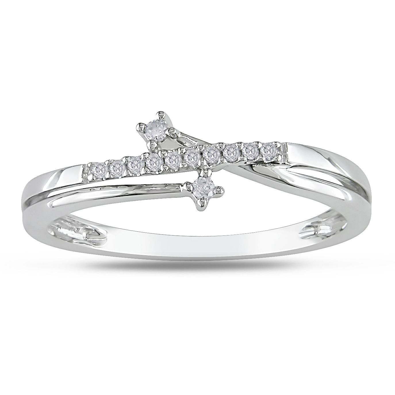 Miadora 10k White Gold Diamond Accent Ring