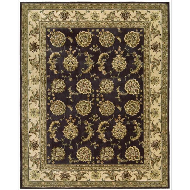 Nourison 2000 Hand-tufted Kashan Lavender Rug (9'9 x 13'9)