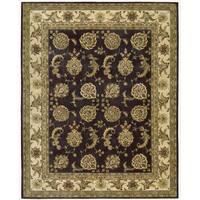 Nourison 2000 Hand-tufted Kashan Lavender Rug (9'9 x 13'9) - 9'9 x 13'9