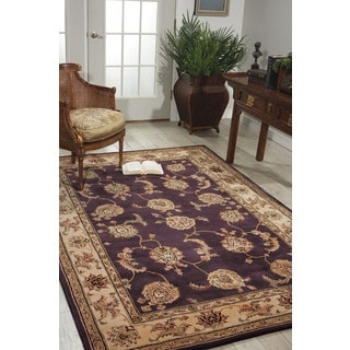 Nourison 2000 Hand-tufted Kashan Lavender Rug (5'6 x 8'6)