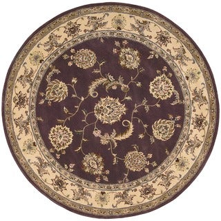 Nourison 2000 Hand-tufted Kashan Lavender Rug (8' Round)