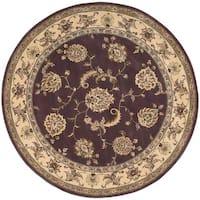 Nourison 2000 Hand-tufted Kashan Lavender Rug - 8' x 8'