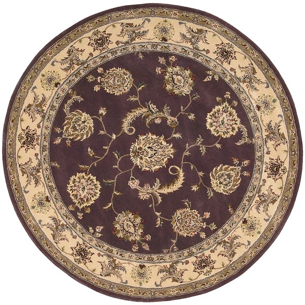 Nourison 2000 Hand-tufted Kashan Lavender Rug (4' Round)