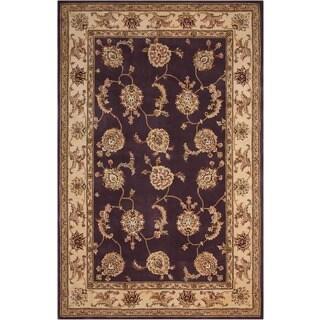 Nourison 2000 Hand-tufted Kashan Lavender Rug (2'6 x 4'3)