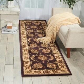 Nourison 2000 Hand tufted Kashan Lavender Rug (2'6 x 12)