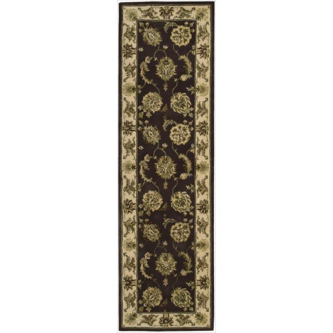 Nourison 2000 Hand-tufted Kashan Lavender Rug (2'3 x 8')