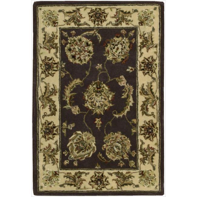 Nourison 2000 Hand-tufted Kashan Lavender Rug (2' x 3')