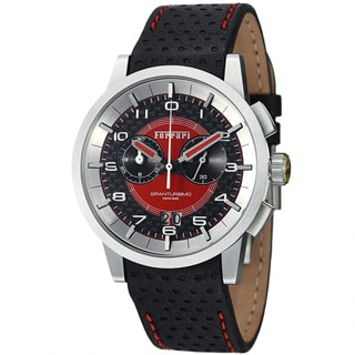Ferrari Men's FE-11-ACC-CP-FC 'Granturismo' Black Dial Leather Strap Chronograph Watch