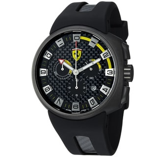 Ferrari Men's FE-10-IPGUN-CG/FC-FC 'Podium' Black Dial Chronograph Swiss Quartz Strap Watch