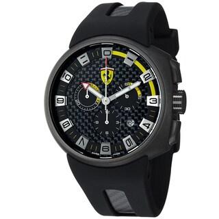 Ferrari Men's FE-10-IPGUN-CG/FC-FC 'Podium' Black Dial Chronograph Swiss Quartz Strap Watch