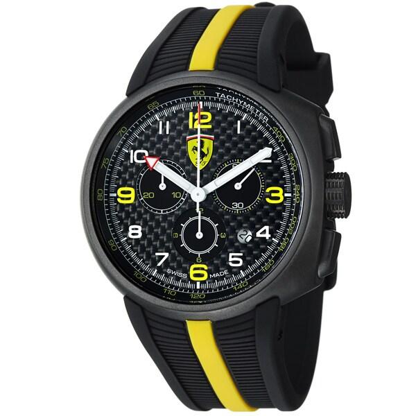 Ferrari Men's FE-10-IPGUN-CG-FC 'Fast Lap' Black Dial Black Strap Chronograph Watch
