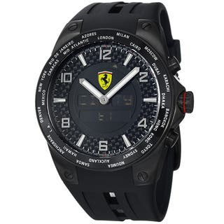 Ferrari Men's FE-05-IPB-FC 'World Time' Black Analog Digital Dial Black Strap Watch|https://ak1.ostkcdn.com/images/products/7262852/Ferrari-Mens-FE-05-IPB-FC-World-Time-Black-Analog-Digital-Dial-Black-Strap-Watch-P14740536.jpg?impolicy=medium