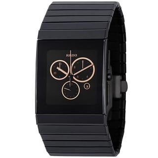 Rado Men's R21714172 'Ceramic' Black Dial Chronograph Quartz Bracelet Watch