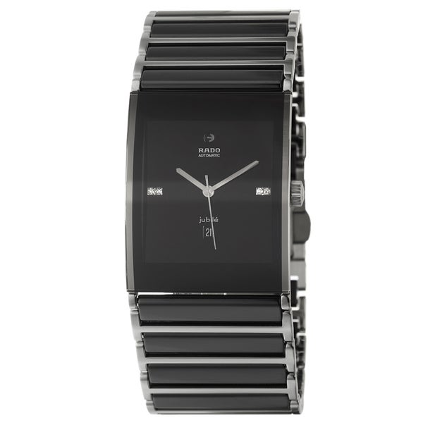 Rado Men's R20852702 'Integral' Black Diamond Dial Black Ceramic Automatic Watch