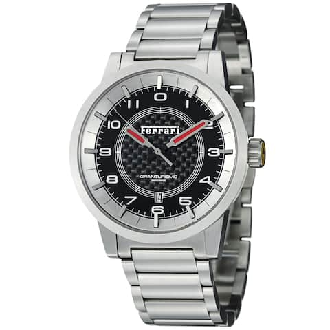 Ferrari Men's FE-12-ACC-CM-BK 'Granturismo' Black Dial Stainless Steel Automatic Watch