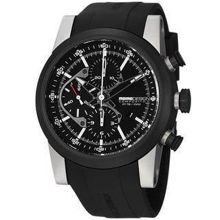 Momo Design Men's MD280TT-01BKBK-RB 'Composito' Black Dial Black Rubber Strap Watch