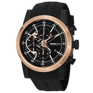 Momo Design Classic Men's MD280RP-01BKRP-RB 'Composito' Black Dial Rubber Strap Automatic Watch
