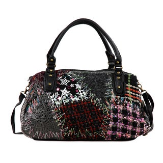 Nikky Jordi Tweeding Patchwork Shoulder Bag