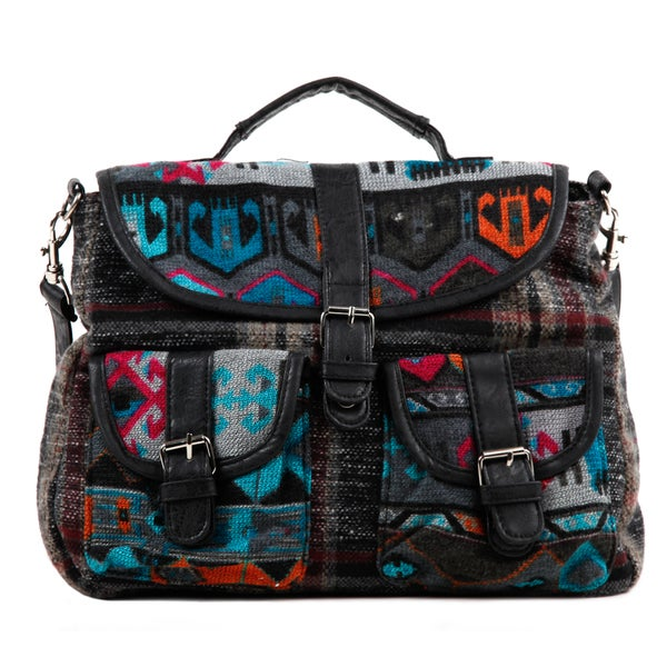 Nikky Felicity Plaid and Tribal Satchel