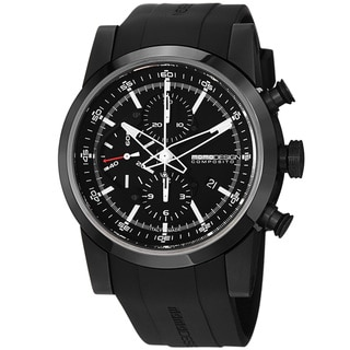 Momo Design Men's MD280BK-01BKBK-RB 'Composito' Black Dial Rubber Strap Automatic Watch