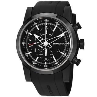 Momo Design Men's MD280BK-01BKBK-RB 'Composito' Black Dial Rubber Strap Automatic Watch