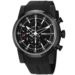 Momo Design Men's 'Composito' Black Dial Rubber Strap Automatic Watch