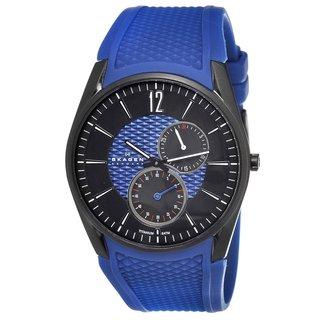 Skagen Men's Titanium Blue Silicone Strap Watch