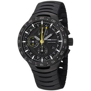 Momo Design Men's 'Master Racer' Black-Dial Chronograph Titanium Bracelet Watch