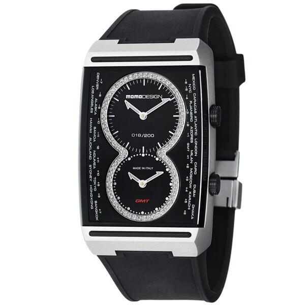 Momo Design Men's 'Dual Tech' Black Dial Black Rubber Strap Watch