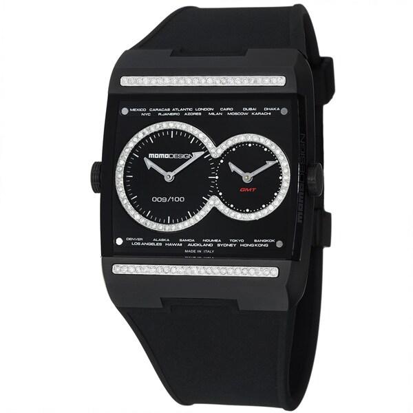 Momo Design Men's 'Dual Tech' Black Diamond Dial Titanium Quartz watch