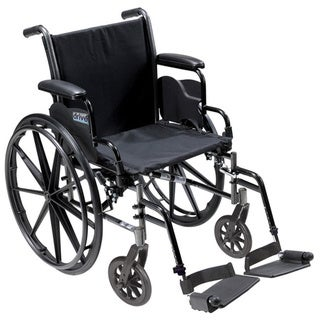 Drive Medical Cruiser III Light Weight Wheelchair with Flip Back Removable Arms - Black (Swing-20)