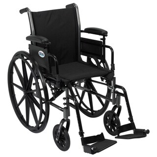 Drive Medical Cruiser III Light Weight Wheelchair with Flip Back Removable Arms - Black (AdjustableSwing-18)