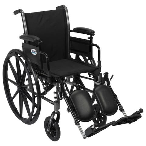 Drive Medical Cruiser III Light Weight Wheelchair with Flip Back Removable Arms - Black