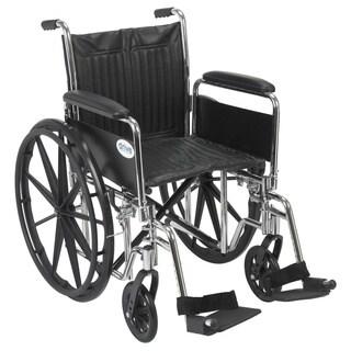Drive Medical Chrome Sport 20-inch Wheelchair