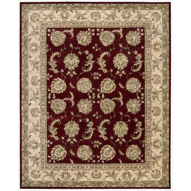 Nourison 2000 Hand-tufted Kashan Lacquer Rug (7'9 x 9'9)