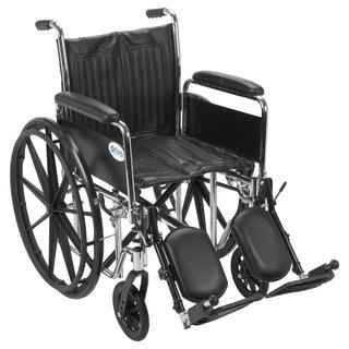 Drive Medical CS18DFA-ELR Chrome Sport 18-inch Dual Axle Wheelchair