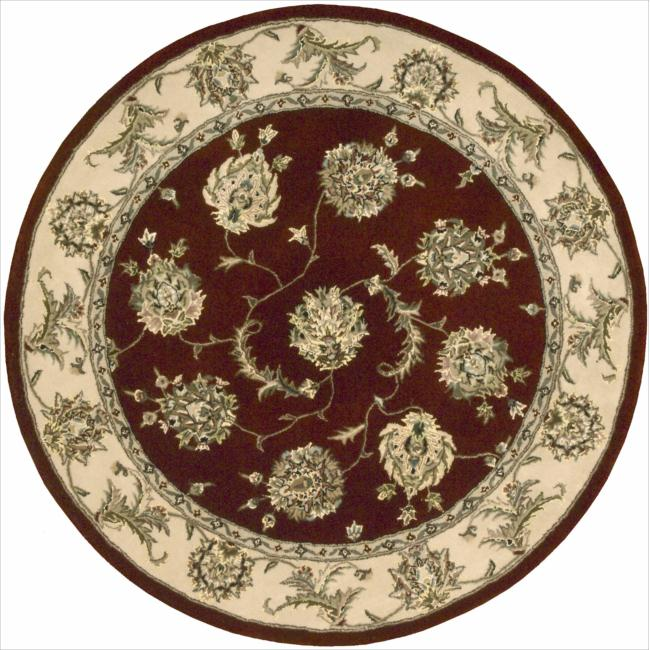 Nourison 2000 Hand-tufted Kashan Lacquer Rug (4' Round)