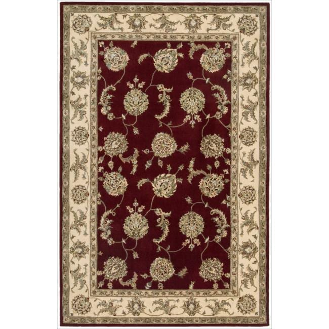 Nourison 2000 Hand-tufted Kashan Lacquer Rug (5'6 x 8'6)