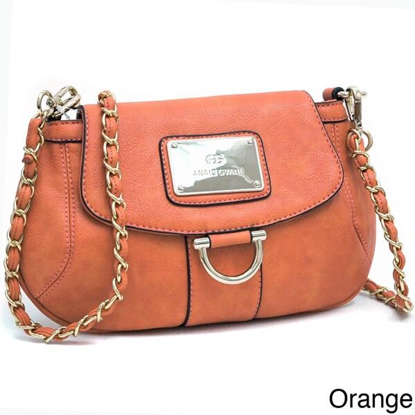 Anais Gvani Petite Chic Gold Accented Shoulder Bag
