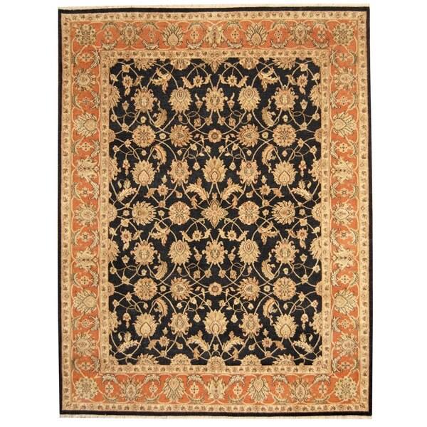 Herat Oriental Indo Hand-knotted Tabriz Wool Rug - 8' x 10'