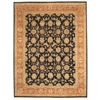 Handmade Herat Oriental Indo Tabriz Wool Rug (India) - 8' x 10'