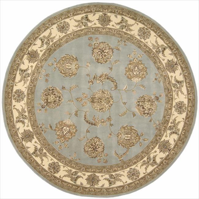 Nourison 2000 Hand-tufted Kashan Blue Cloud Rug (8' Round)