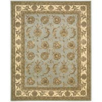 Nourison 2000 Hand-tufted Kashan Blue Cloud Rug (7'9 x 9'9)