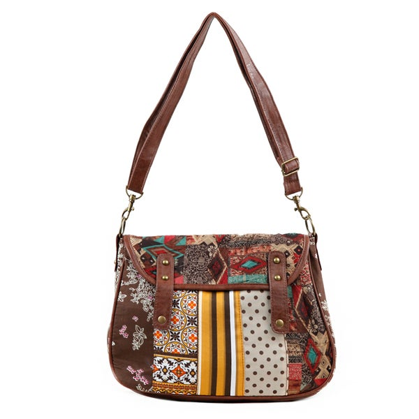 Nikky Lizzy Geometry Flowers Messenger Bag