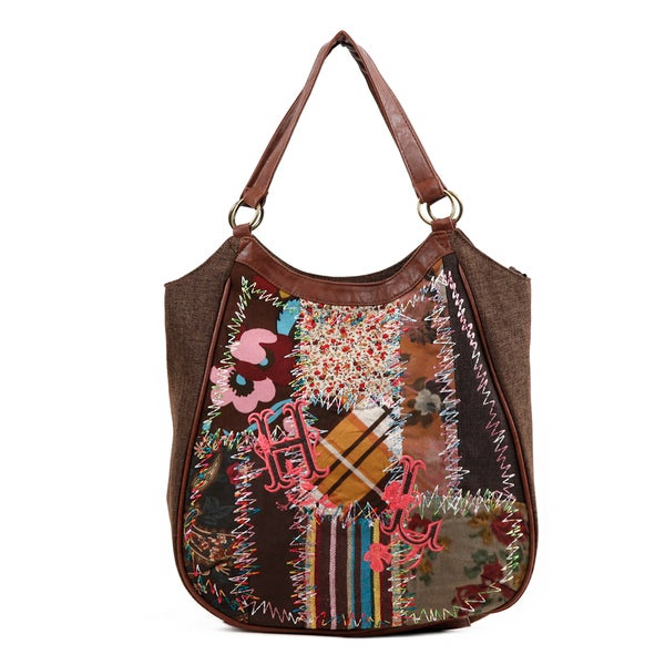 Nikky by Nicole Lee Shianne Sew Wild Patchwork Tote Bag