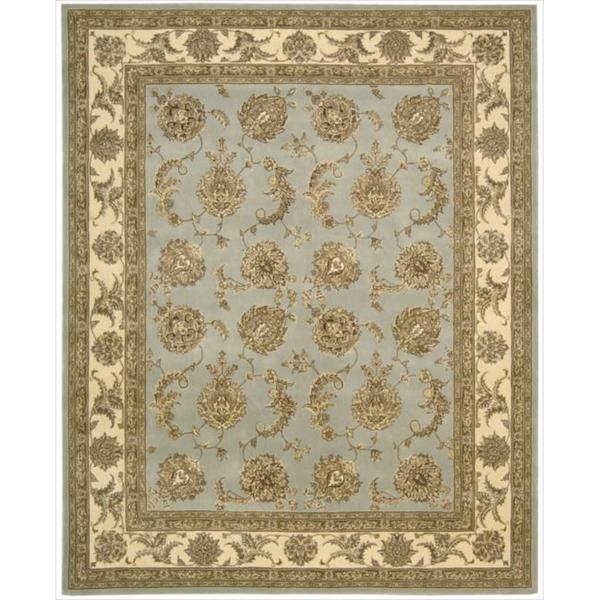 Nourison 2000 Hand-tufted Kashan Blue Cloud Rug (5'6 x 8'6)