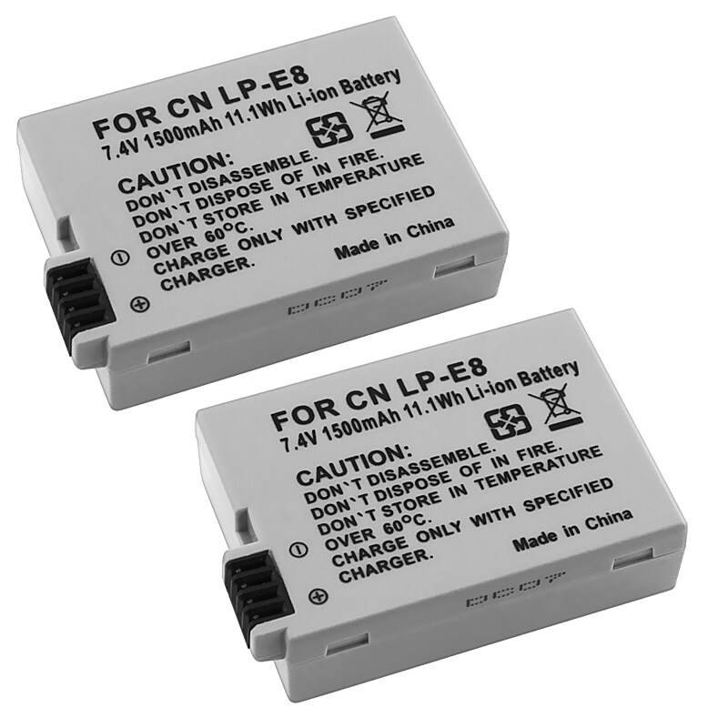 INSTEN Li-ion Battery for Canon EOS Rebel T2i0 (Pack of 2)