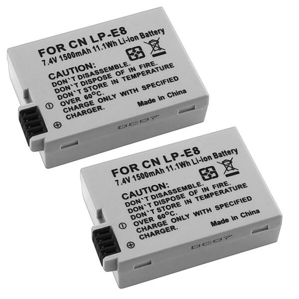 INSTEN Li-ion Battery for Canon EOS Rebel T2i0 (Pack of 2)