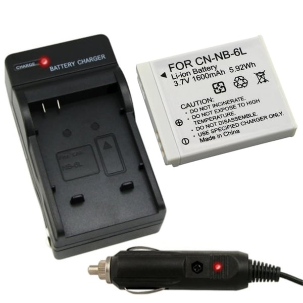 INSTEN Battery Charger/ Li-ion Battery for Canon Powershot SD770 IS