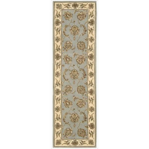 Nourison 2000 Hand-tufted Kashan Blue Cloud Rug (2'6 x 12')